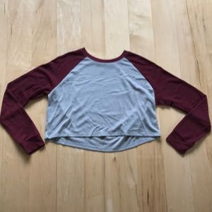 3/$15 Forever21 long sleeved waffle knit crop top